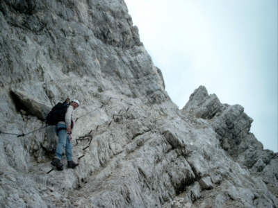 Klettersteig Alpspitze : Die alpspitze ferrata