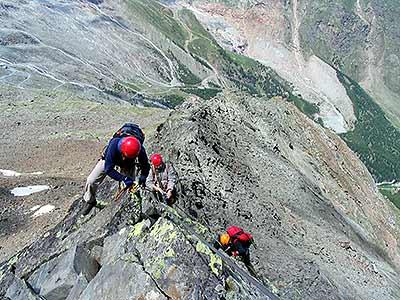 Klettersteig Wallis : Der mittaghorn klettersteig