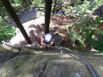 Klettersteig Wolkenstein : Der gipfelweg klettersteig